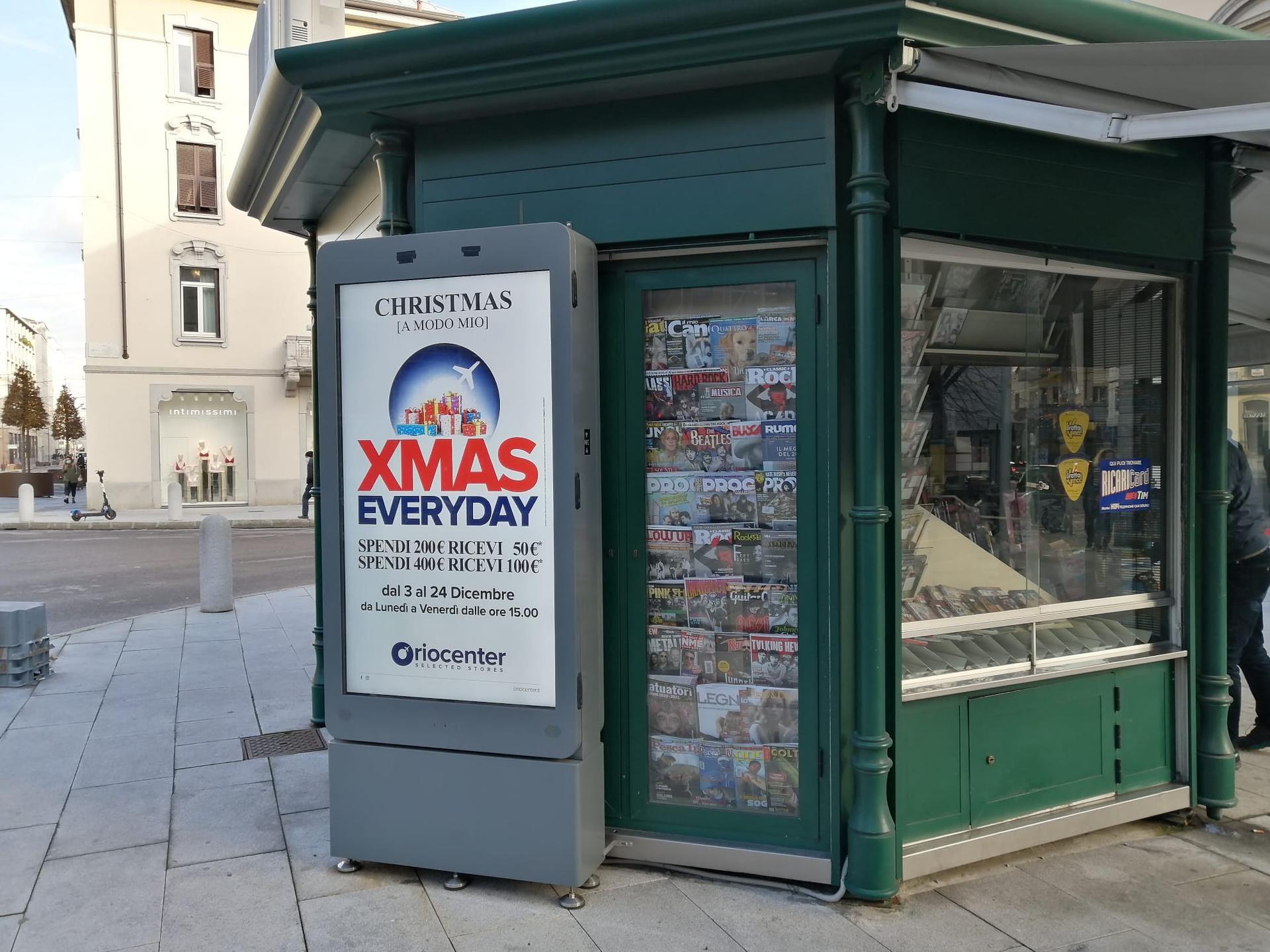 Totem digitale a Bergamo